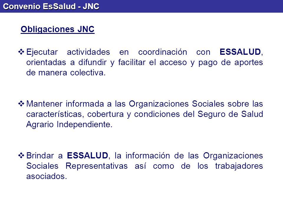 Convenio EsSalud - JNC Obligaciones JNC.