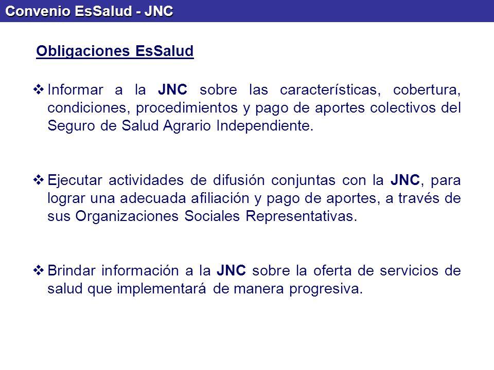 Convenio EsSalud - JNC Obligaciones EsSalud.
