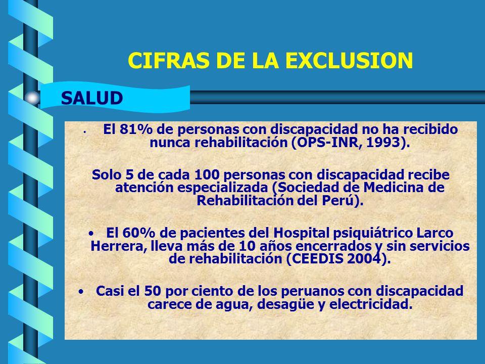 CIFRAS DE LA EXCLUSION SALUD