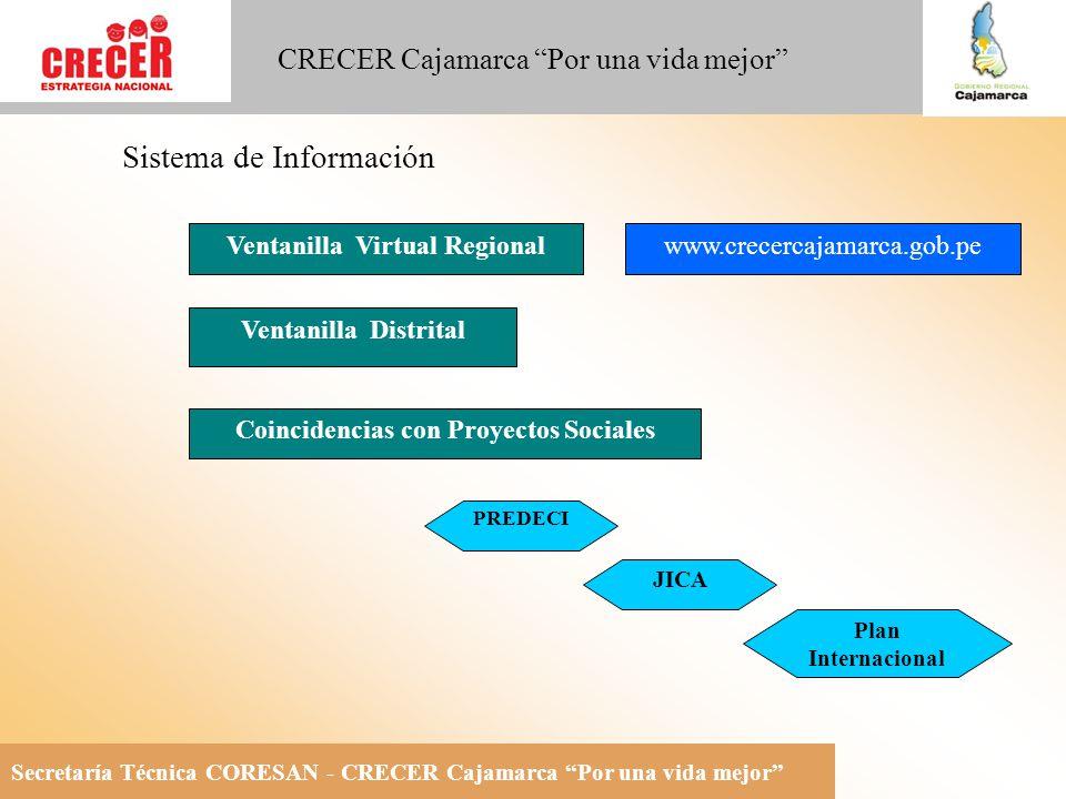 Ventanilla Virtual Regional Coincidencias con Proyectos Sociales