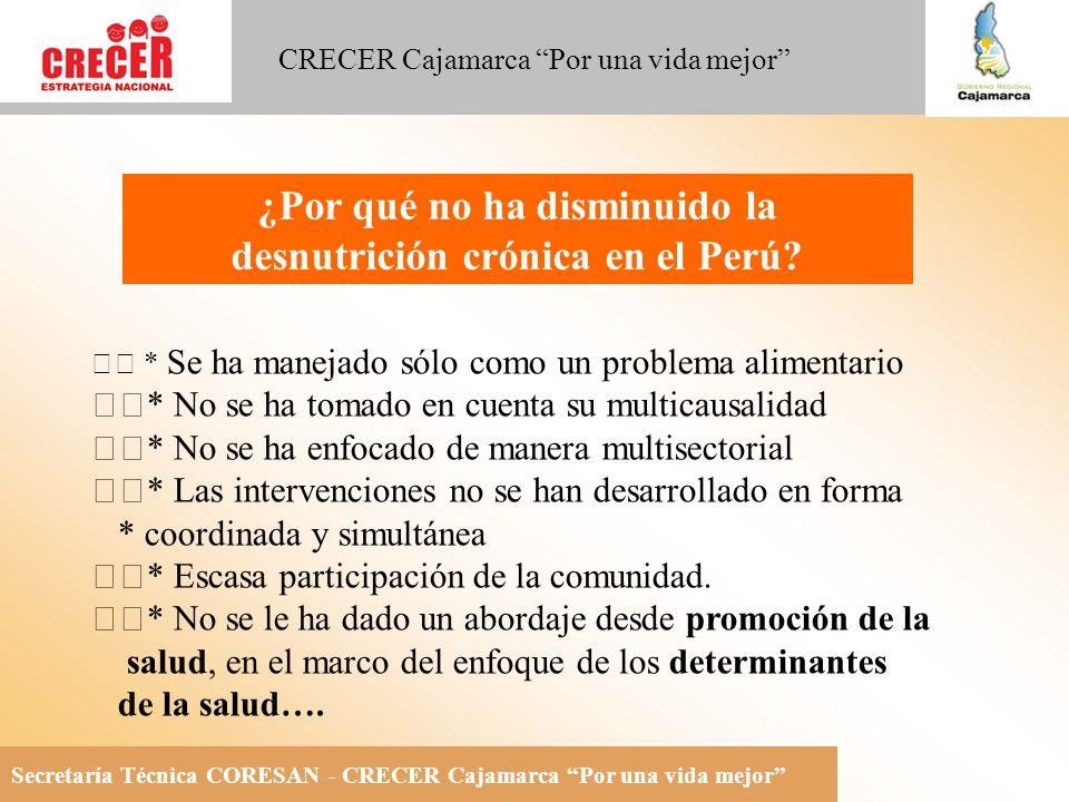 ¿Por qué no ha disminuido la desnutrición crónica en el Perú