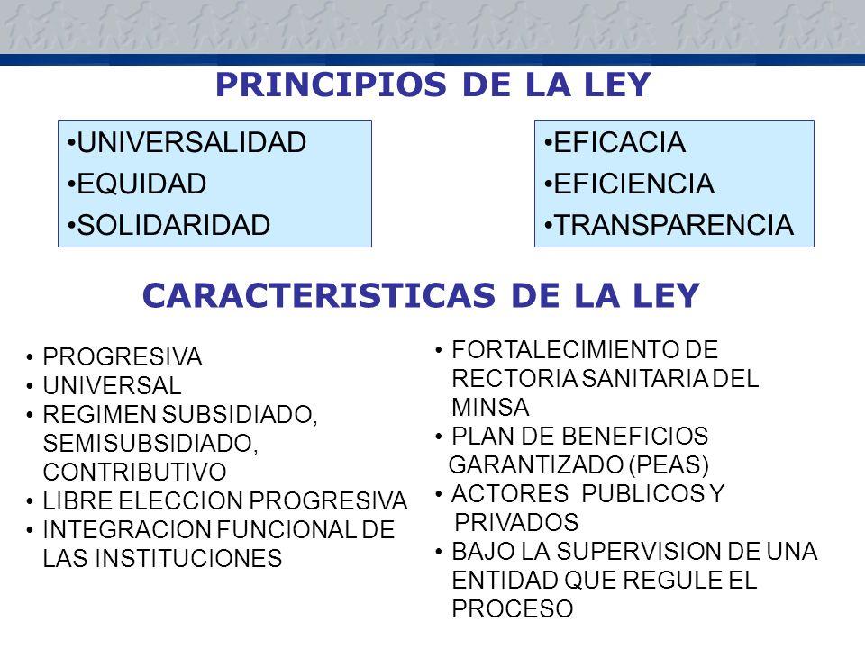 CARACTERISTICAS DE LA LEY
