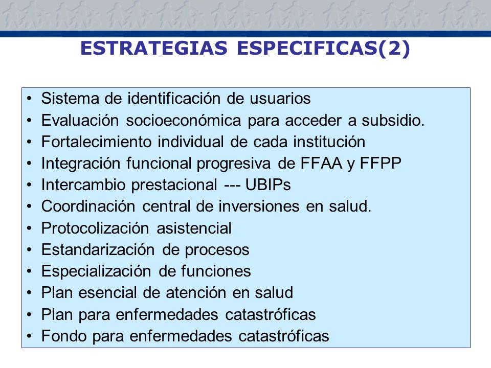ESTRATEGIAS ESPECIFICAS(2)