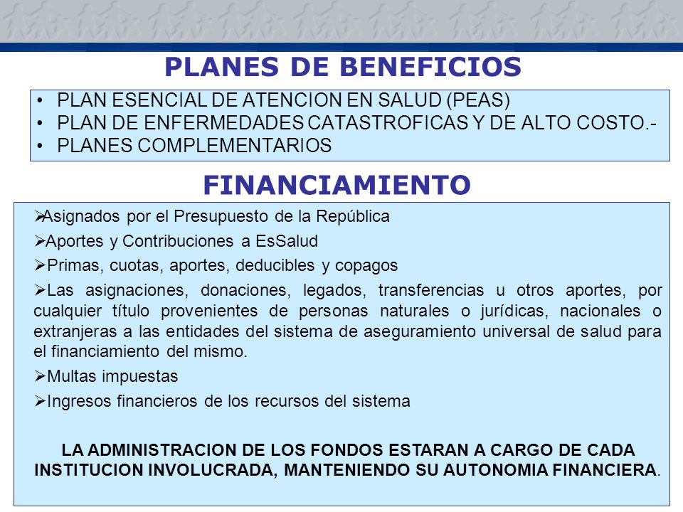PLANES DE BENEFICIOS FINANCIAMIENTO