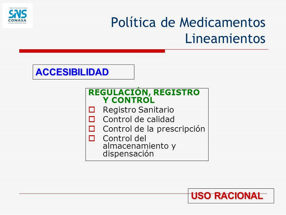 Política de Medicamentos Lineamientos