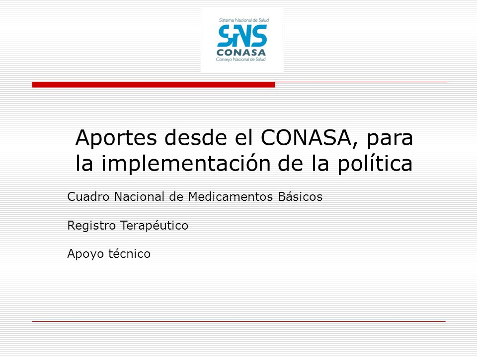 Aportes desde el CONASA, para la implementación de la política