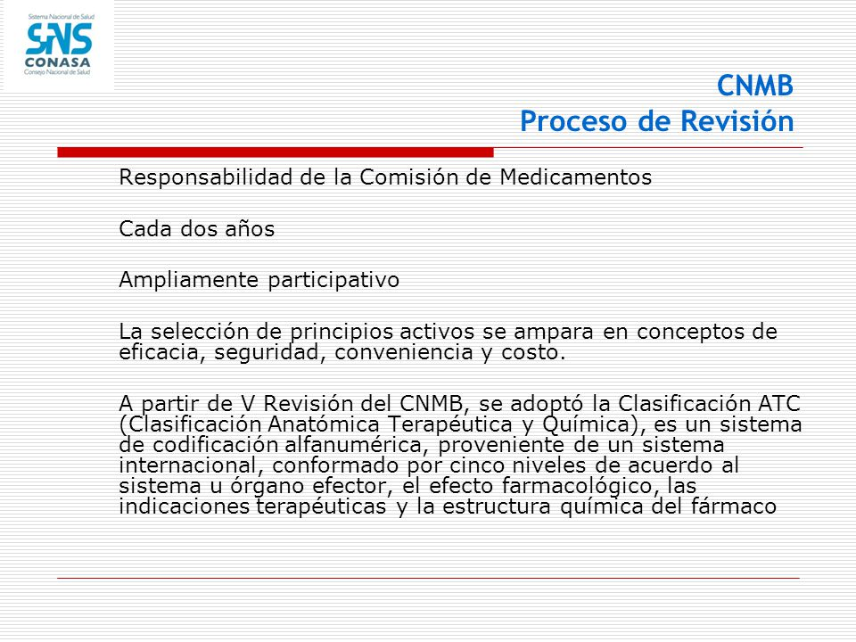 CNMB Proceso de Revisión