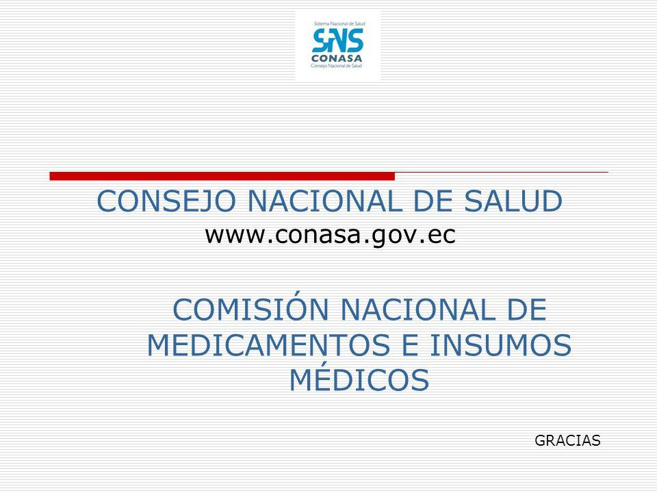CONSEJO NACIONAL DE SALUD www.conasa.gov.ec