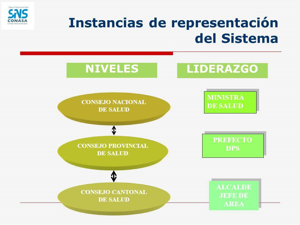 Instancias de representación del Sistema