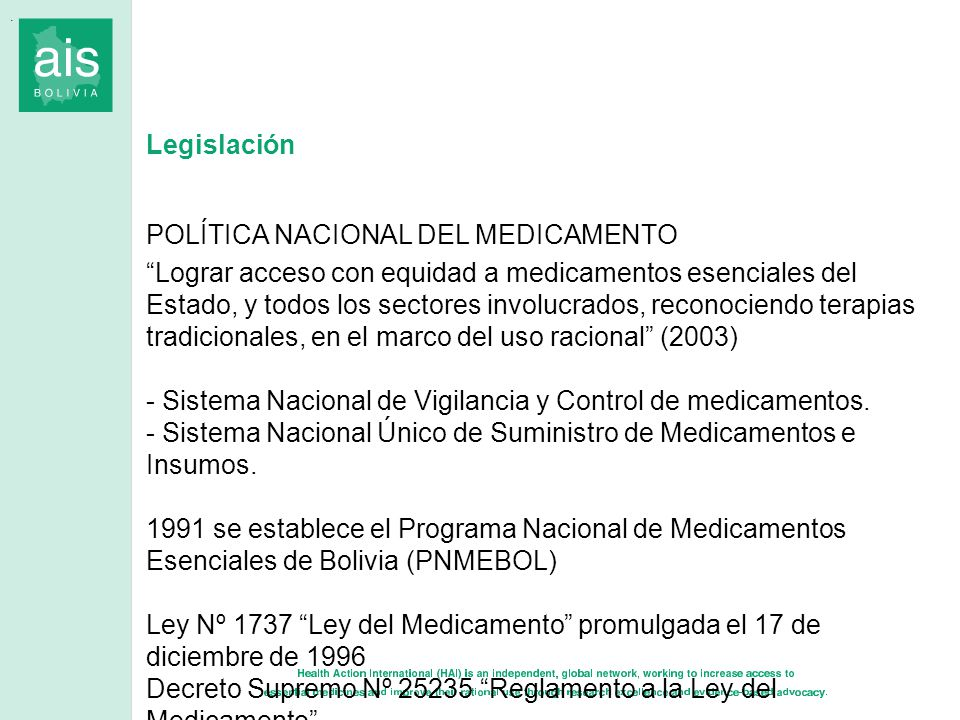 POLÍTICA NACIONAL DEL MEDICAMENTO