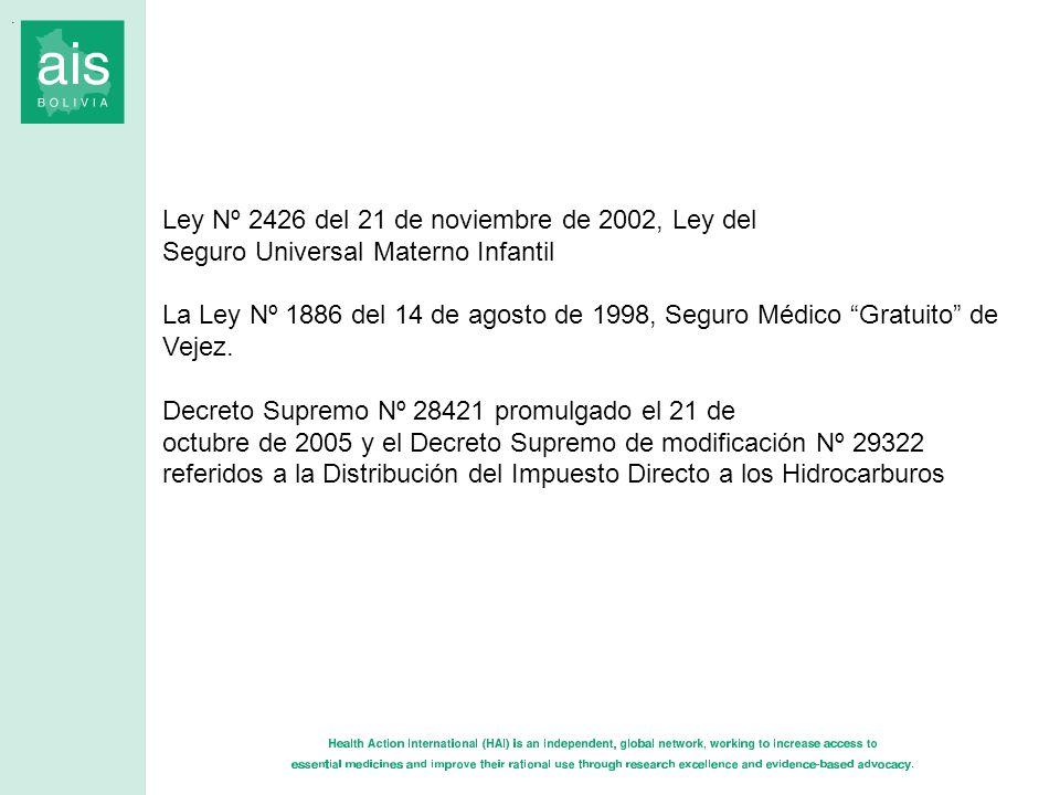 Ley Nº 2426 del 21 de noviembre de 2002, Ley del