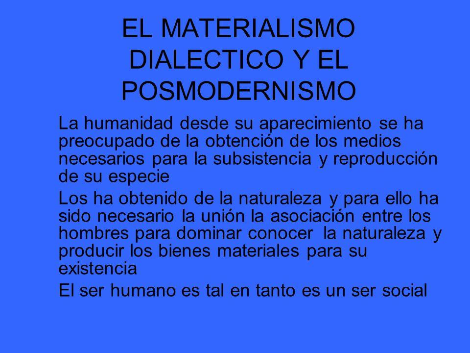EL MATERIALISMO DIALECTICO Y EL POSMODERNISMO