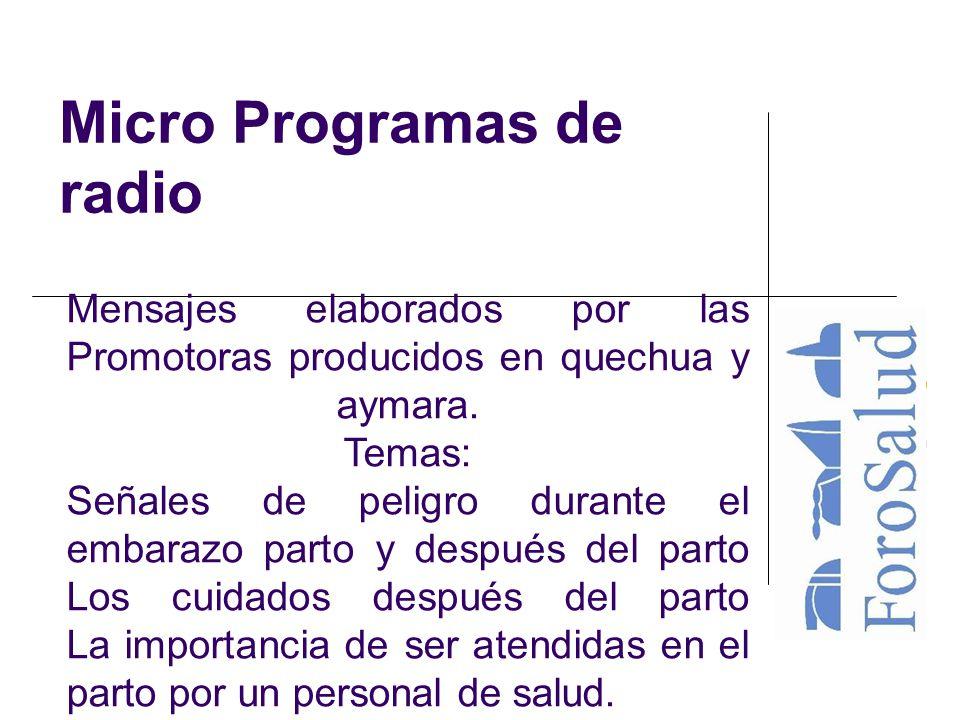 Micro Programas de radio