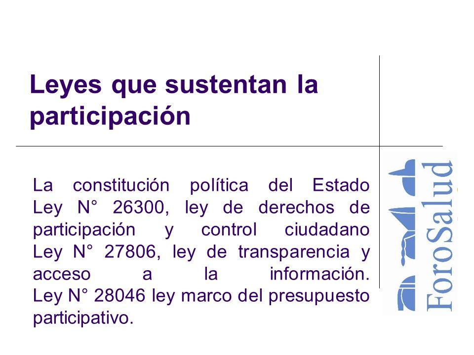 Leyes que sustentan la participación