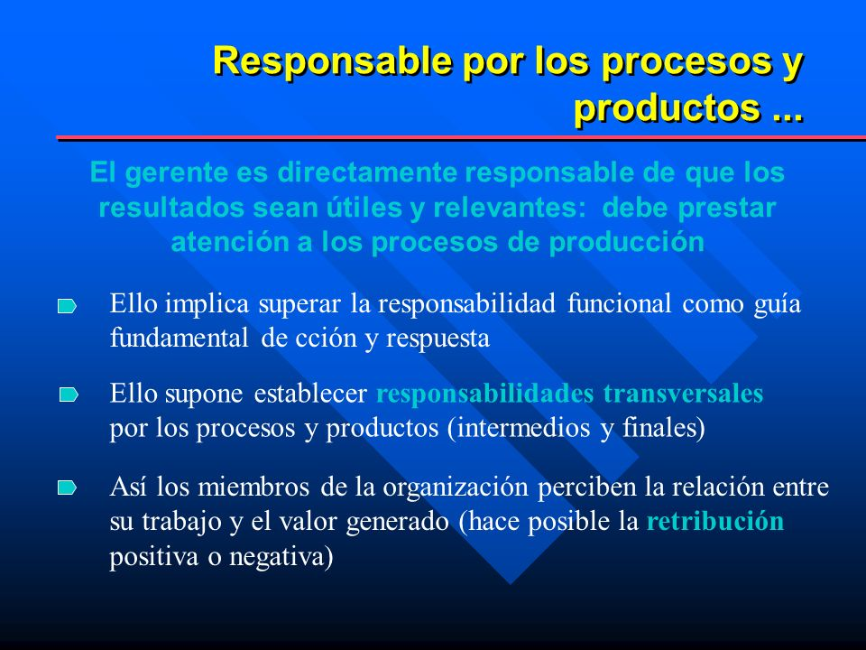 Responsable por los procesos y productos ...