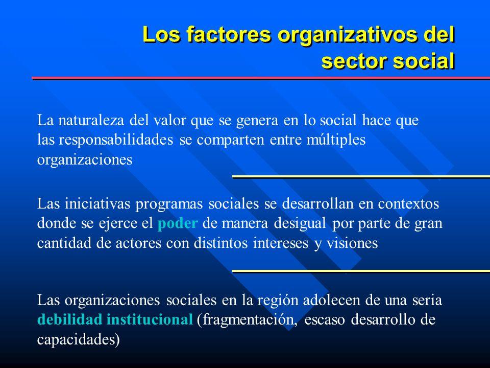 Los factores organizativos del sector social