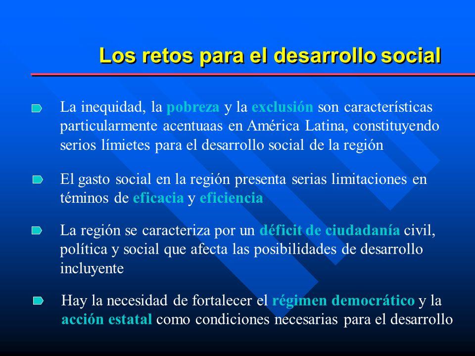 Los retos para el desarrollo social