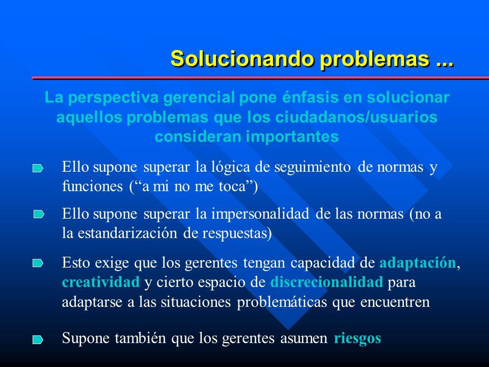 Solucionando problemas ...
