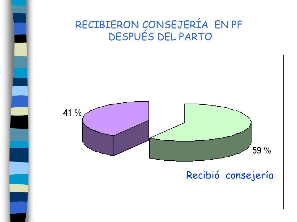 RECIBIERON CONSEJERÍA EN PF