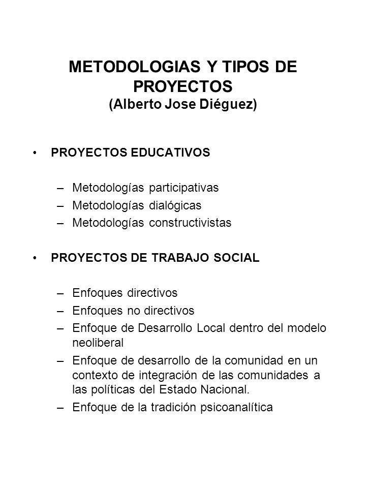 METODOLOGIAS Y TIPOS DE PROYECTOS (Alberto Jose Diéguez)