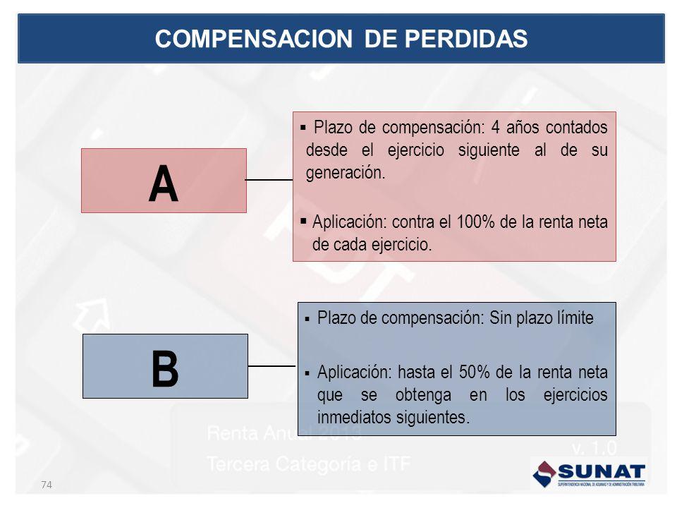COMPENSACION DE PERDIDAS