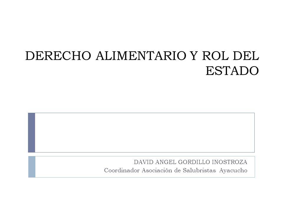 DERECHO ALIMENTARIO Y ROL DEL ESTADO