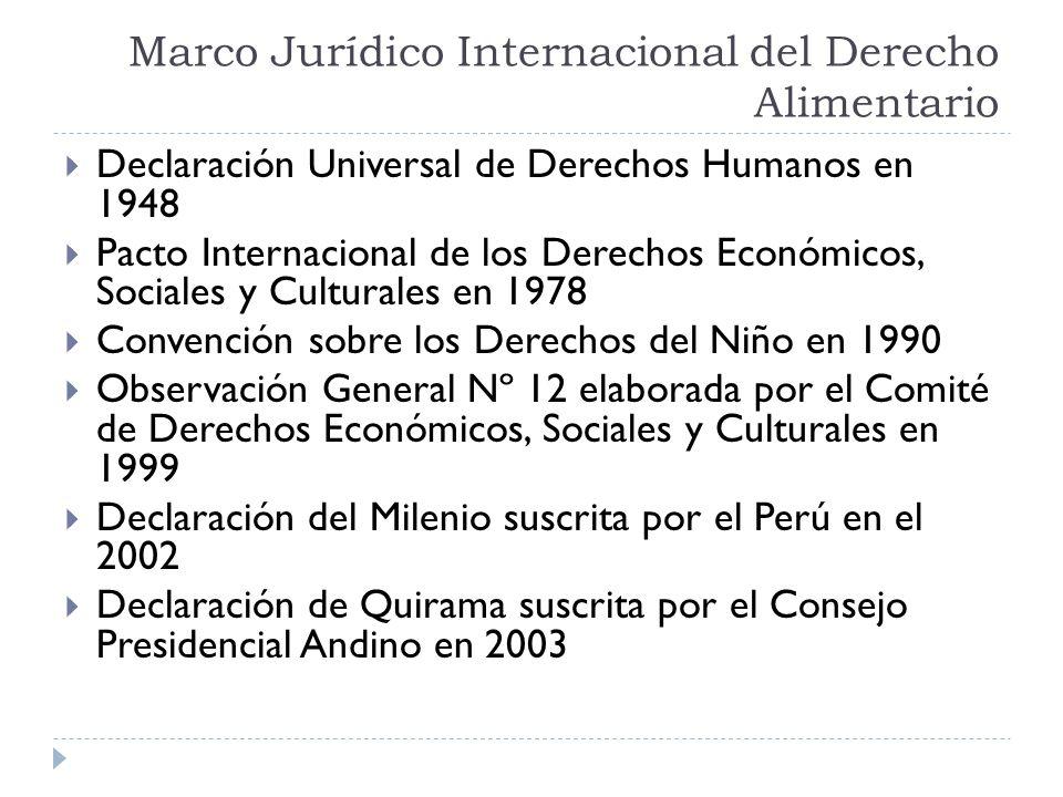 Marco Jurídico Internacional del Derecho Alimentario