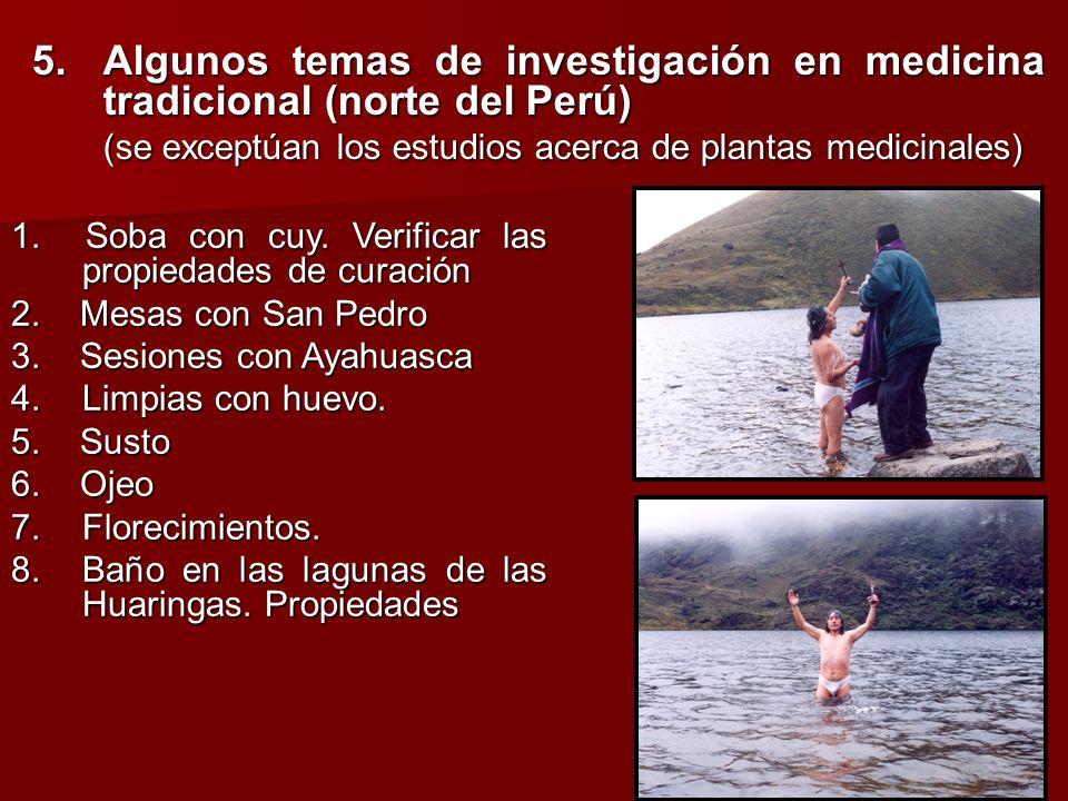 5. Algunos temas de investigación en medicina tradicional (norte del Perú)