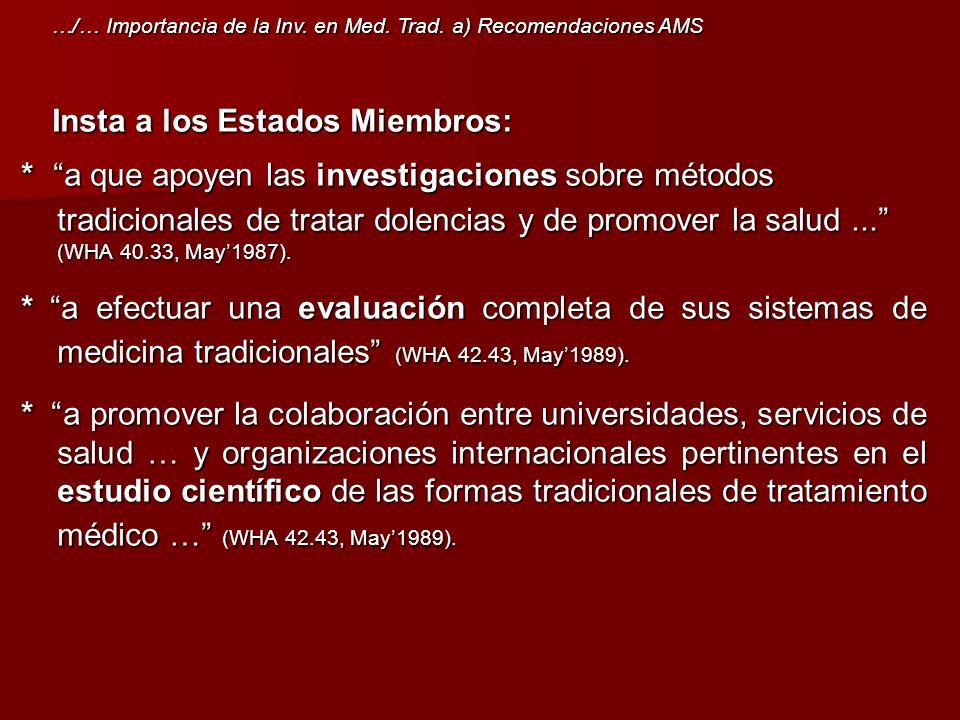 Insta a los Estados Miembros: