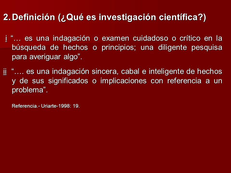 2. Definición (¿Qué es investigación científica )