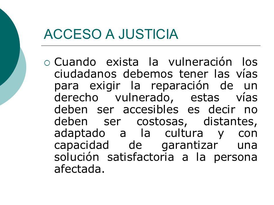 ACCESO A JUSTICIA
