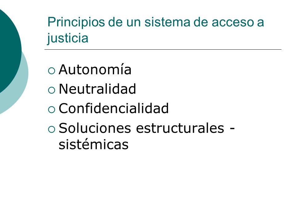 Principios de un sistema de acceso a justicia