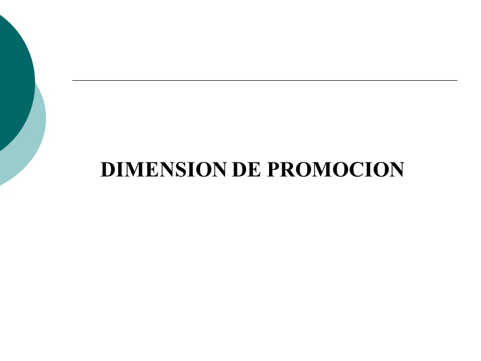 DIMENSION DE PROMOCION