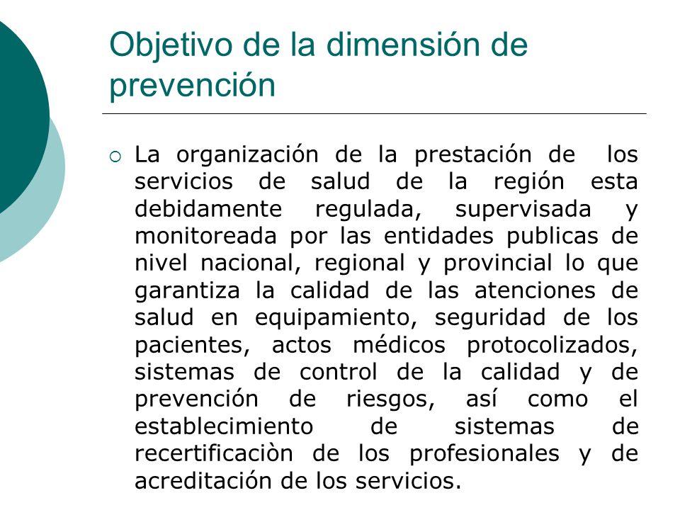 Objetivo de la dimensión de prevención