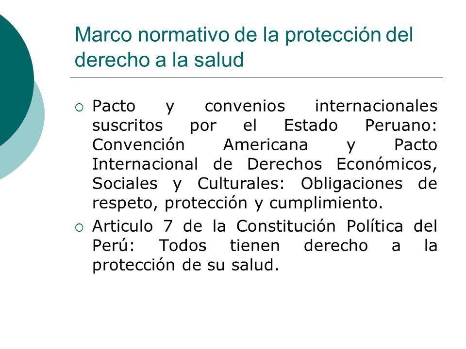 Marco normativo de la protección del derecho a la salud