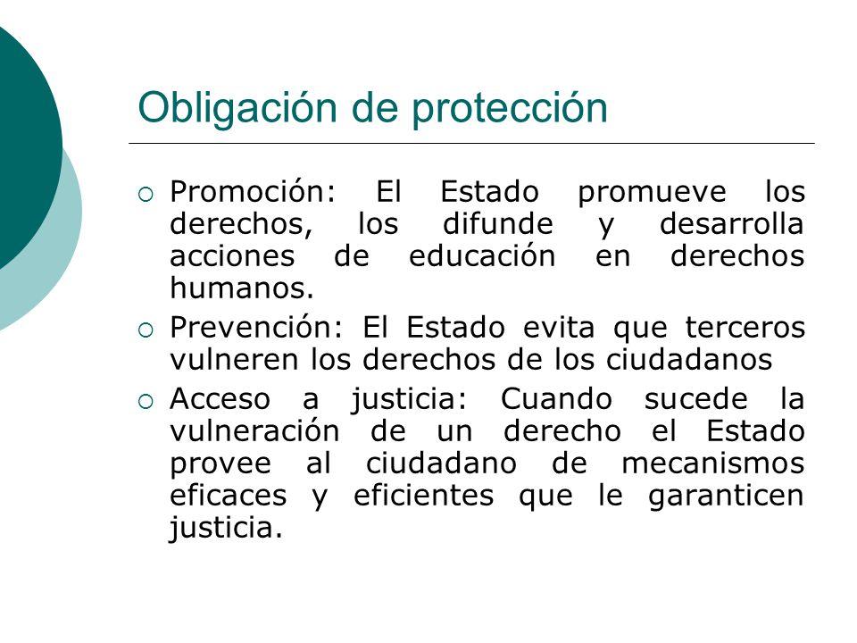 Obligación de protección