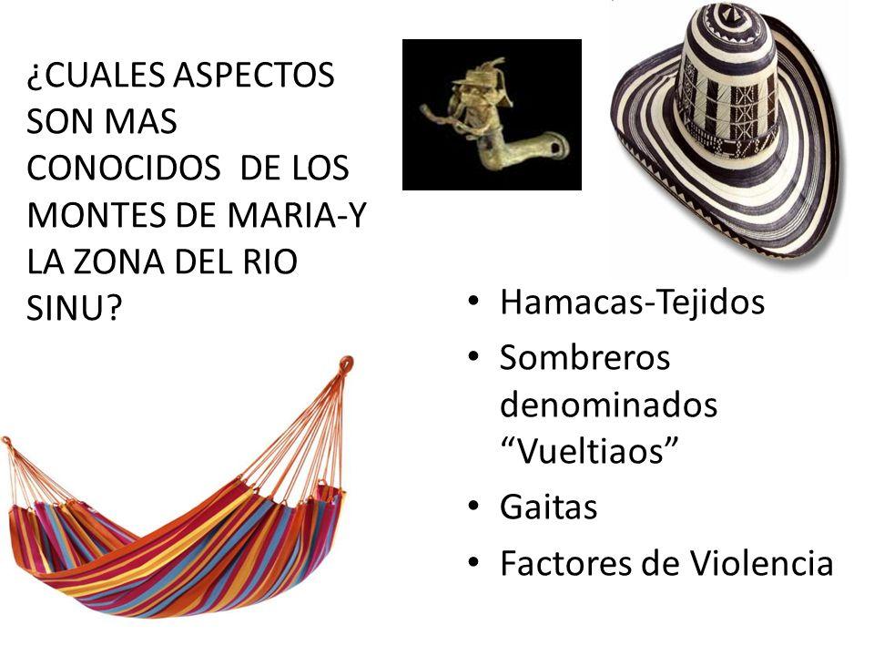 ¿CUALES ASPECTOS SON MAS CONOCIDOS DE LOS MONTES DE MARIA-Y LA ZONA DEL RIO SINU