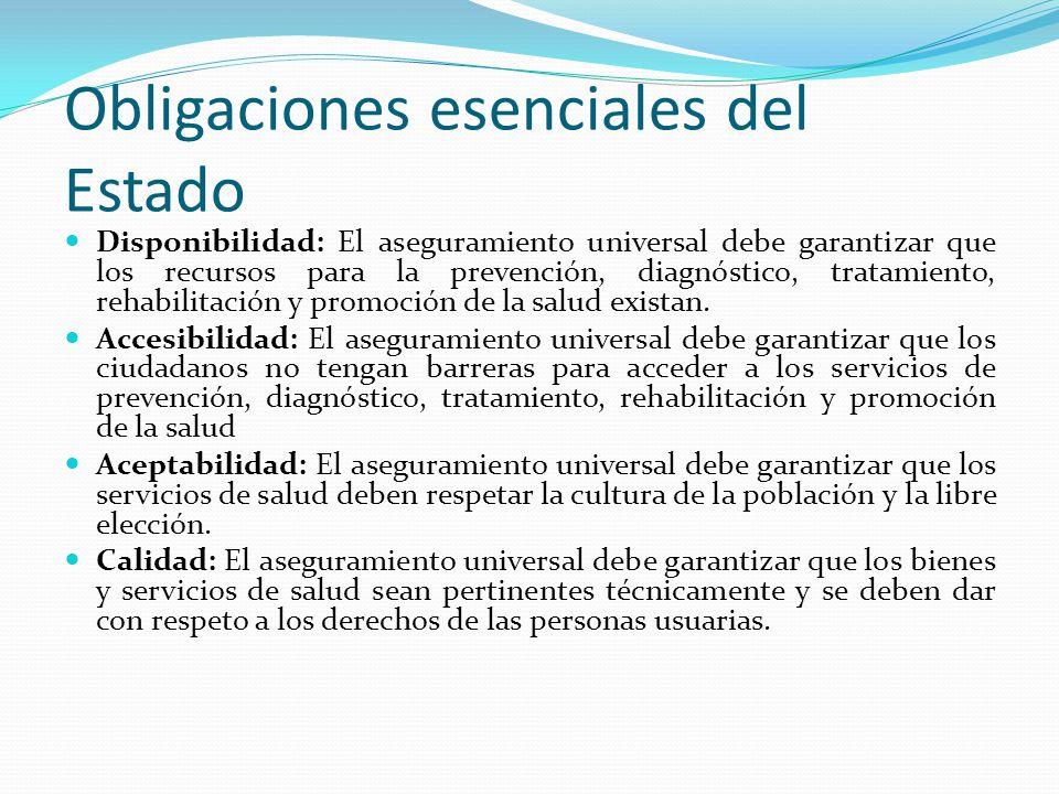 Obligaciones esenciales del Estado