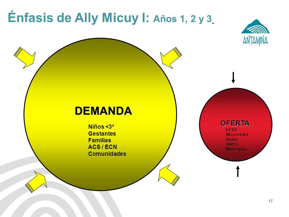 Énfasis de Ally Micuy I: Años 1, 2 y 3