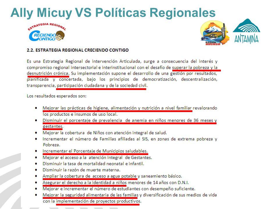 Ally Micuy VS Políticas Regionales