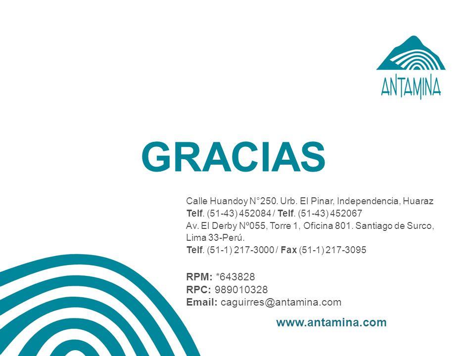 GRACIAS www.antamina.com RPM: *643828 RPC: 989010328