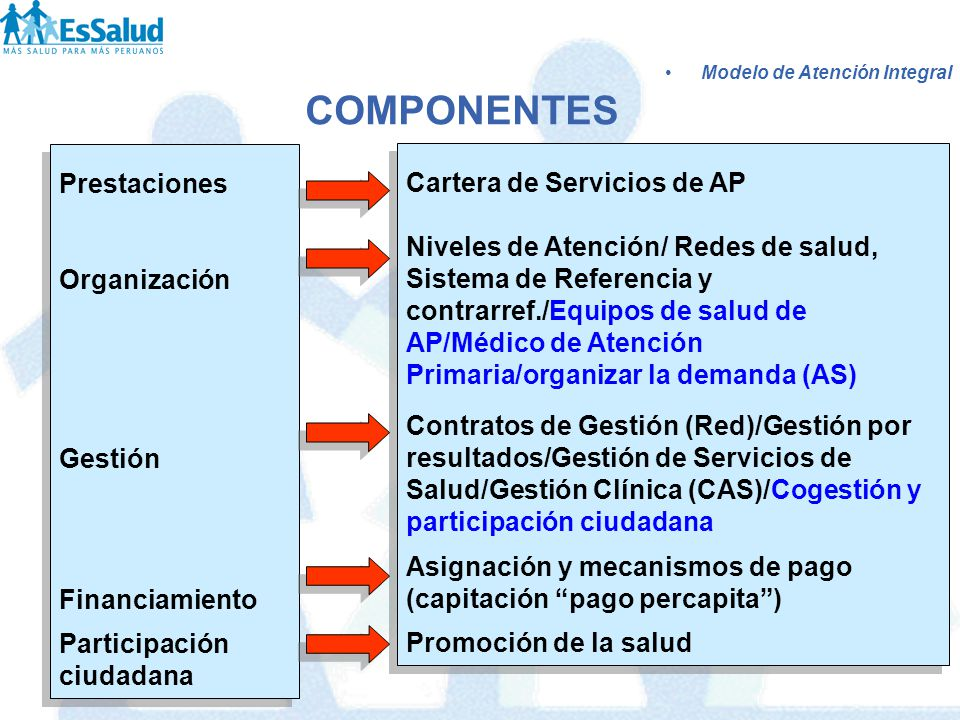 COMPONENTES Prestaciones Cartera de Servicios de AP