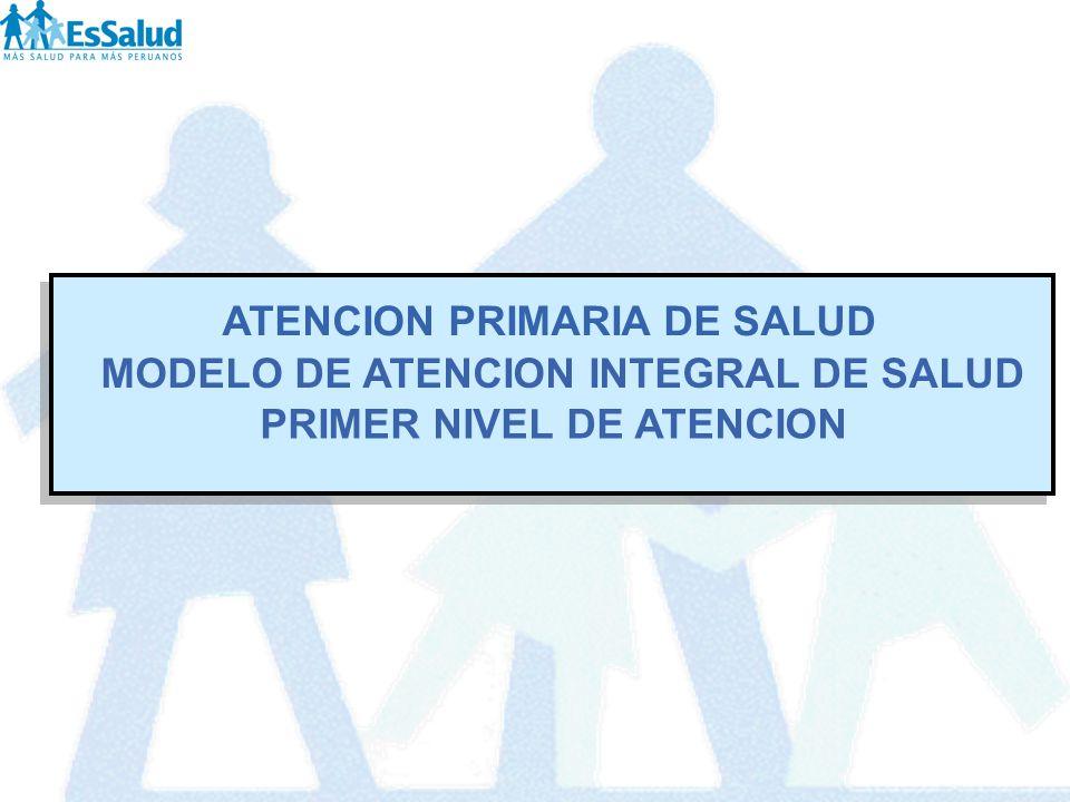 ATENCION PRIMARIA DE SALUD MODELO DE ATENCION INTEGRAL DE SALUD