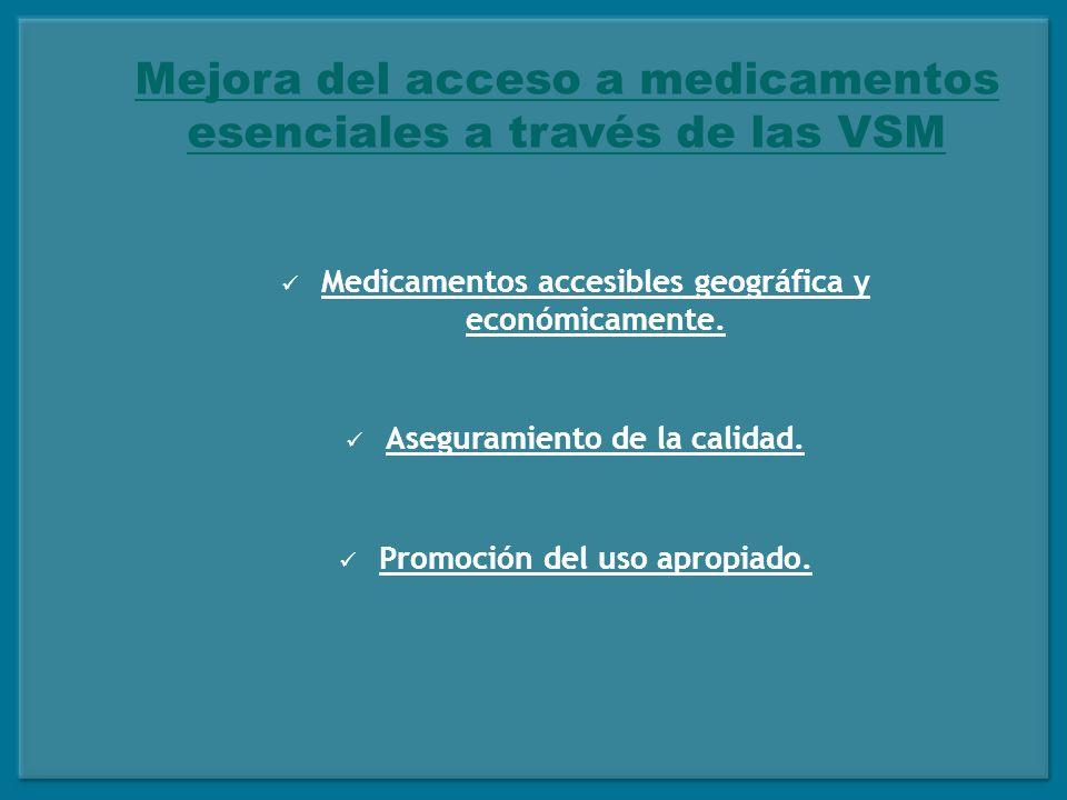 Mejora del acceso a medicamentos esenciales a través de las VSM