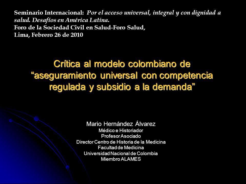 Seminario Internacional: Por el acceso universal, integral y con dignidad a salud. Desafíos en América Latina.
