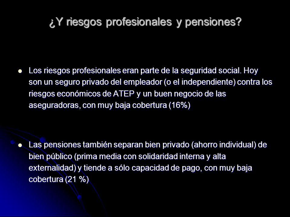 ¿Y riesgos profesionales y pensiones