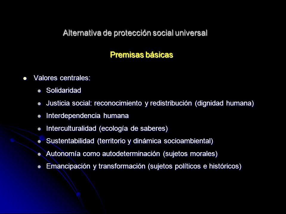 Alternativa de protección social universal