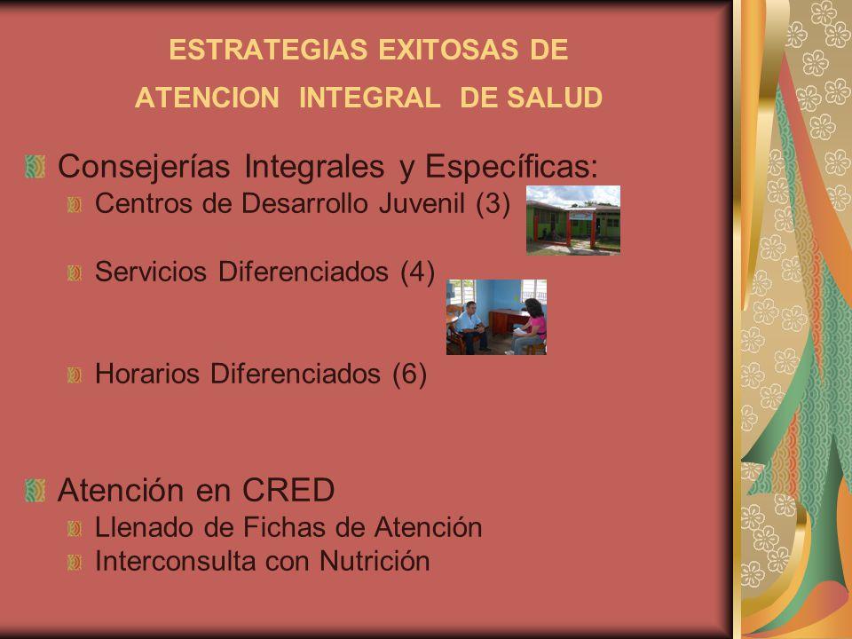 ESTRATEGIAS EXITOSAS DE ATENCION INTEGRAL DE SALUD