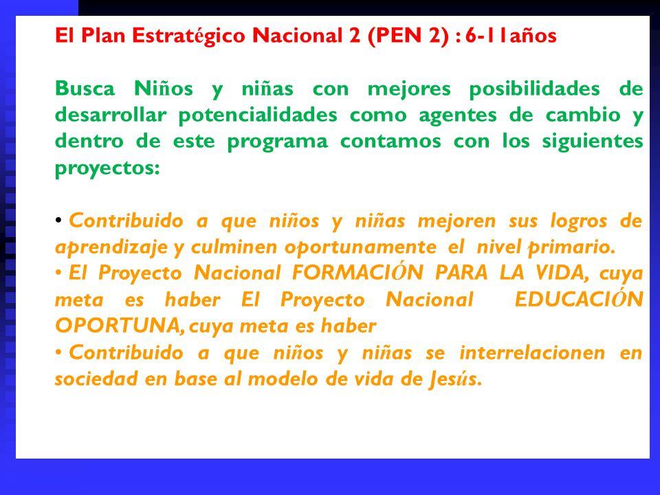 El Plan Estratégico Nacional 2 (PEN 2) : 6-11años
