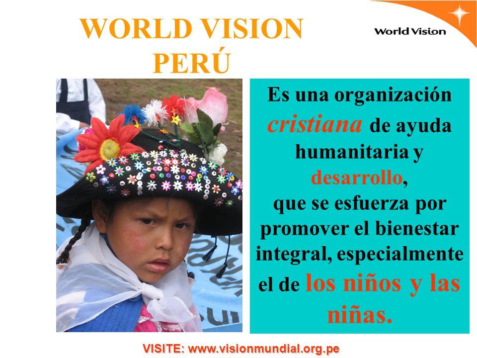 Es una organización cristiana de ayuda humanitaria y desarrollo,